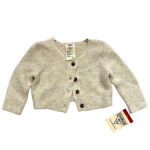 NWT! OshKosh Cream Knit Cardigan